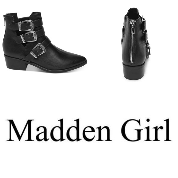 ffcdab838de Madden Girl Cecily Western Buckle Ankle Boot. NWT